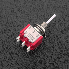 SW7211 - DPDT On/On/On Mini-Toggle Switch, 1/4'' Mounting