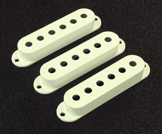 Genuine Fender Vintage White Strat Pickup Cover Set